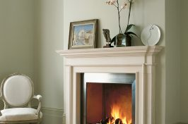 the burlington contemporary fireplace