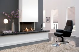 build in wall fireplace