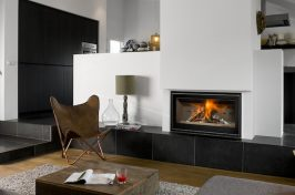 build in fireplace in living room