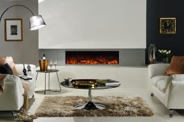 electric inset tunnel fireplace