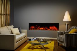 electric inset fireplace with crystal fuel