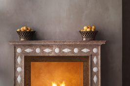 bunny williams designer fireplace