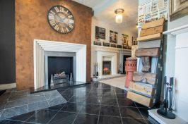 fireplace and stove showroom