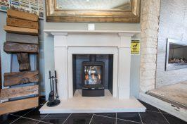 freestanding stove fireplace