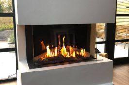 modern wall fireplace