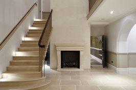 fireplace house entrance